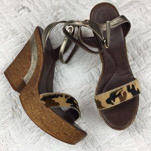 Matisse Camo Leather Vow Platform Wedge Sandal